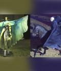Réalisation de trois paires d'ailes en soie pour cavaliers.