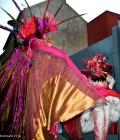 Création de deux personnages oiseaux fantastiques, costumes pour échassiers.