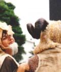 Masques coiffes en plastazote et fourrures