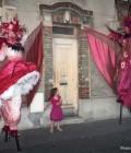 Création de deux personnages oiseaux fantastiques, costumes pour échassiers