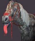 Fabrication du cheval de environ 1.60 de haut