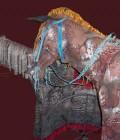 Fabrication des chevaux en volume et de leur harnais.