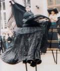 Création des 7 costumes d'échassiers du spectacle.