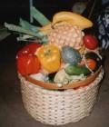 A partir de moules en plâtre obtenus directement des vrais légumes